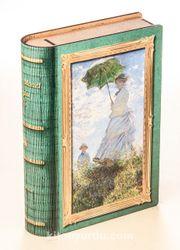Kitap Şeklinde Mıknatıslı Ahşap Akordeon Kutu - Ressamlar - Monet