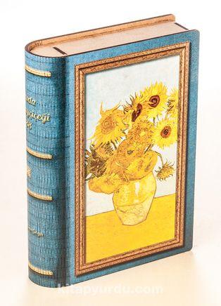 Kitap Şeklinde Mıknatıslı Ahşap Akordeon Kutu - Van Gogh
