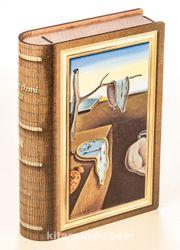 Kitap Şeklinde Mıknatıslı Ahşap Akordeon Kutu - Ressamlar - Salvador Dali