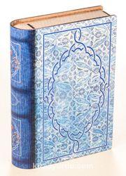 Kitap Şeklinde Mıknatıslı Ahşap Akordeon Kutu - Çini Desen