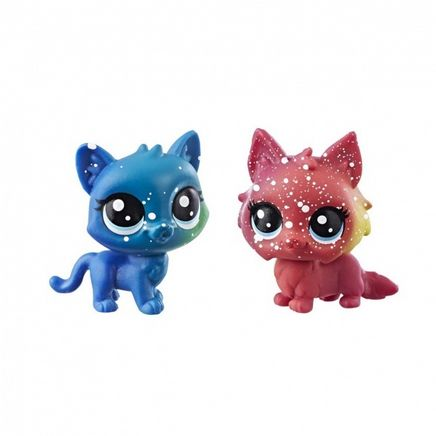 Littlest Pet Shop 2'li Kozmik Miniş Koleksiyonu İyi Dostlar Kırmızı Kedi - Mavi Kedi (E2128)