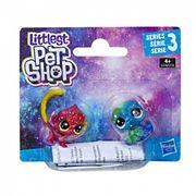Littlest Pet Shop 2'li Kozmik Miniş Koleksiyonu İyi Dostlar Kırmızı Maymun - Mavi Hayvan (E2128)