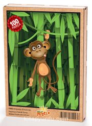 Bambu Ormanında Maymun Ahşap Puzzle 108 Parça (CK02-C)