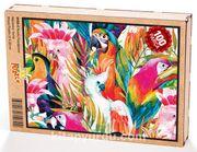 Renkli Papağanlar Ahşap Puzzle 108 Parça (HV05-C)