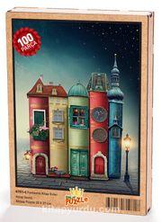 Fantastik Kitap Evler Ahşap Puzzle 108 Parça (KT01-C)