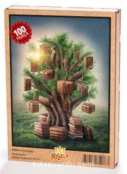 Kitap Ağacı Ahşap Puzzle 108 Parça (KT06-C)
