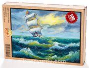 Yelkenli ve Deniz Ahşap Puzzle 108 Parça (MZ01-C)