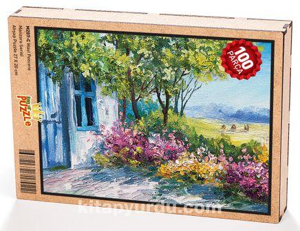 Mavi Pencere Ahşap Puzzle 108 Parça (MZ07-C)
