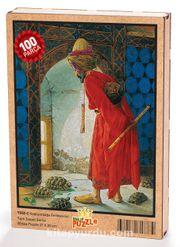 Kaplumbağa Terbiyecisi Ahşap Puzzle 108 Parça (TS02-C)
