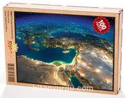 Türkiye Uydu Görüntüsü Ahşap Puzzle 108 Parça (TR02-C)