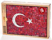 Bayrak Mozaik Ahşap Puzzle 108 Parça (TR03-C)