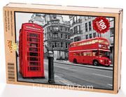 Fleet Caddesi Londra Ahşap Puzzle 108 Parça (UK01-C)