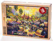 Su Kenarında Yaşam Tayland Ahşap Puzzle 108 Parça (UK05-C)