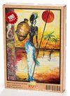 Testili Afrikalı Kadın Zaire Ahşap Puzzle 108 Parça (UK07-C)