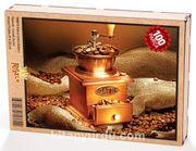 Kahve Çekirdekleri Ahşap Puzzle 108 Parça (YI03-C)