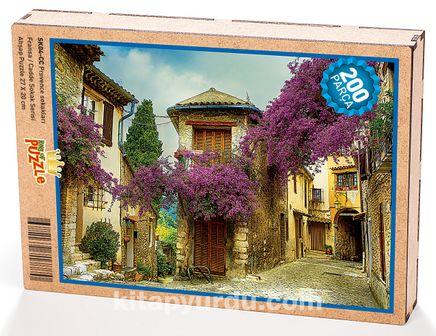 Provence Sokakları - Fransa Ahşap Puzzle 204 Parça (SK04-CC)