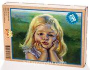 Sevimli Kız Ahşap Puzzle 204 Parça (CK04-CC)
