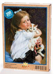 Çocuk ve Kedi Ahşap Puzzle 204 Parça (CK05-CC)
