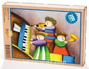 Çocuk Trio Ahşap Puzzle 204 Parça (CK06-CC)