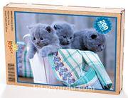 Minik Kediler Ahşap Puzzle 204 Parça (HV04-CC)