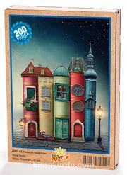 Fantastik Kitap Evler Ahşap Puzzle 204 Parça (KT01-CC)