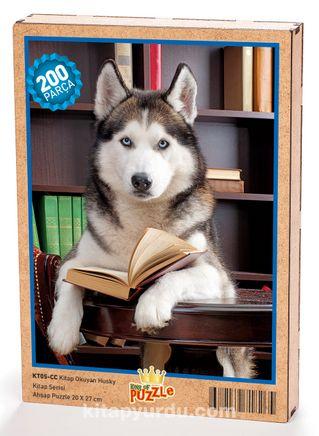 Kitap Okuyan Husky Ahşap Puzzle 204 Parça (KT05-CC)