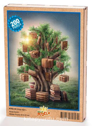Kitap Ağacı Ahşap Puzzle 204 Parça (KT06-CC)
