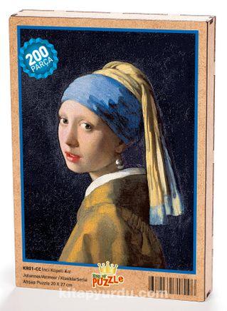 İnci Küpeli Kız /Johannes Vermeer Ahşap Puzzle 204 Parça (KR01-CC)