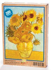 Bir Vazoda On İki Günebakan / Vincent Van Gogh Ahşap Puzzle 204 Parça (KR02-CC)