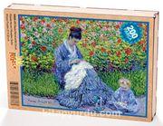 Bayan Monet ve Bir Çocuk / Claude Monet Ahşap Puzzle 204 Parça (KR05-CC)