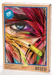 Renkli Yüz Ahşap Puzzle 204 Parça (KJ01-CC)