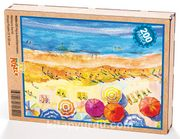 Plaj ve Renkli Şemsiyeler Ahşap Puzzle 204 Parça (MZ04-CC)