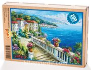 Sahil Kasabası / Tırabzanlı Yol Ahşap Puzzle 204 Parça (MZ06-CC)