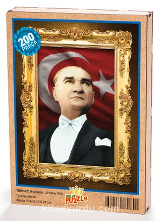 Atatürk - 29 Ekim 1933 Ahşap Puzzle 204 Parça (TR09-CC)