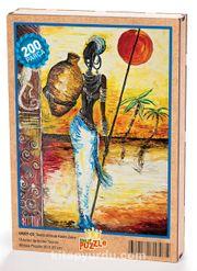 Testili Afrikalı Kadın Zaire Ahşap Puzzle 204 Parça (UK07-CC)