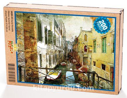 Kanal Venedik Ahşap Puzzle 204 Parça (UK08-CC)