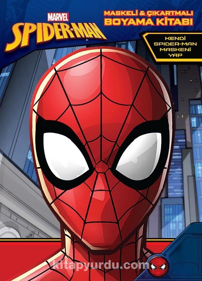 Marvel Spider Man Maskeli Ve Cikartmali Boyama Kitabi Kollektif