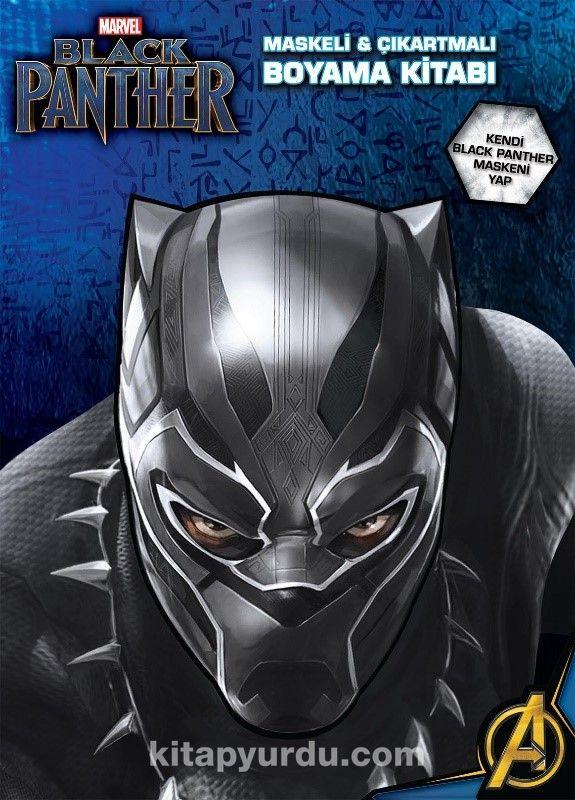 Marvel Black Panther Maskeli Ve Cikartmali Boyama Kitabi