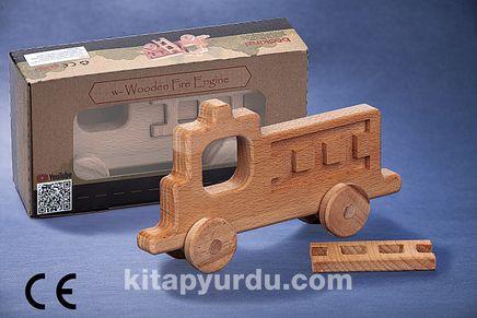 Montessori Ahşap Zeka Oyunları/ w-Wooden Fire Engine