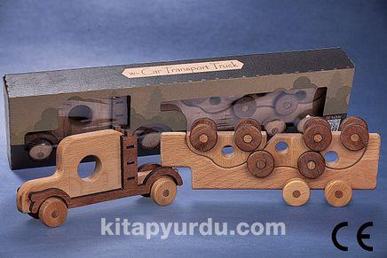 Montessori Ahşap Zeka Oyunları/ w- Car Transport Truck
