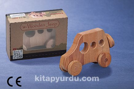 Montessori Ahşap Zeka Oyunları/ w-Wooden Jeep