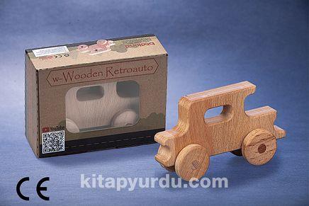 Montessori Ahşap Zeka Oyunları/ w-Wooden Retroauto