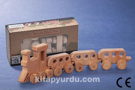 Montessori Ahşap Zeka Oyunları/ w-Wooden Black Train