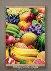 Full Frame Kanvas Poster - Renkli Meyveler Kayın (FFK-YI01)