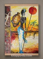 Full Frame Kanvas Poster - Testili Afrikalı Kadın Zaire Kayın (FFK-UK01)