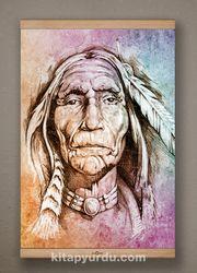 Full Frame Kanvas Poster - Yaşlı Kızılderili Kayın (FFK-PT01)