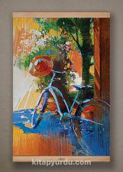 Full Frame Kanvas Poster - Mavi Bisiklet - Fransa - KAYIN (FFK-SK01)