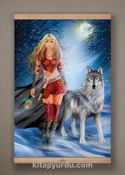 Full Frame Kanvas Poster - Kurtların Kraliçesi - KAYIN (FFK-MF01)