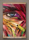 Full Frame Kanvas Poster - Renkli Yüz - KAYIN (FFK-KJ01)