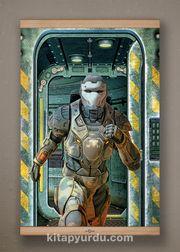 Full Frame Kanvas Poster - Koşan Fütüristik Asker Kayın (FFK-BK01)